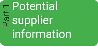 Part 1 - Selection Questionnaire Potential Supplier Information